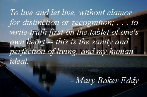 Quote about Recognition by Mary Baker Eddy