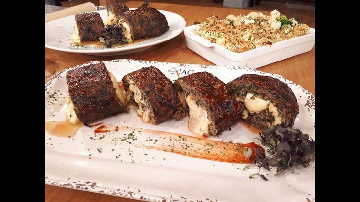 Receta de hoy: arrollado de carne y vegetales gratinados