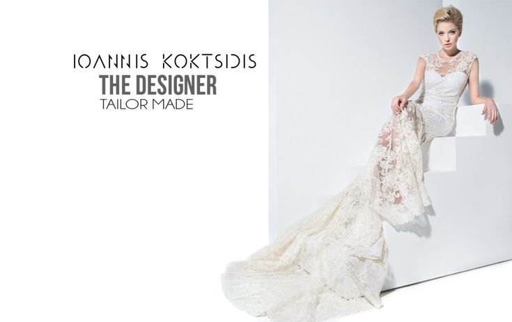 Lace, open-back, Tailor-made wedding dress by Ioannis Koktsidis #operafhouse #ioanniskoktsidis