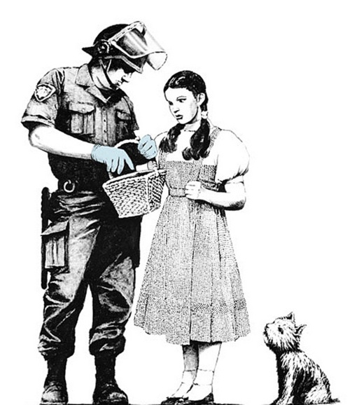 banksyArtists, Banksy Art, Stuff, Graffiti, Dorothy Police, Street Art, Police Search, Things, Streetart