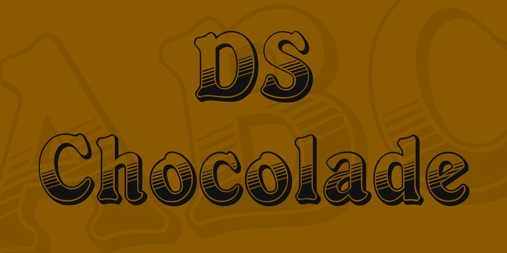 DS Chocolade Font · 1001 Fonts