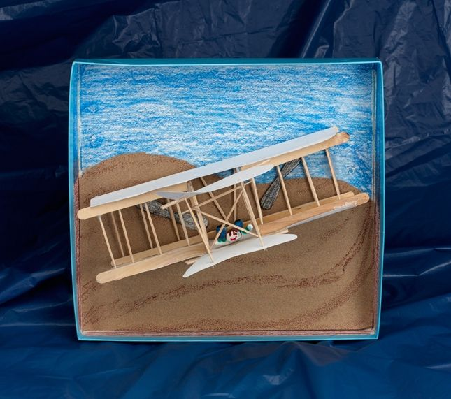 Art Idea Lesson Plan - Grades 3-5 - From Crayola this art idea recreate the Wright Brothers' Flyer