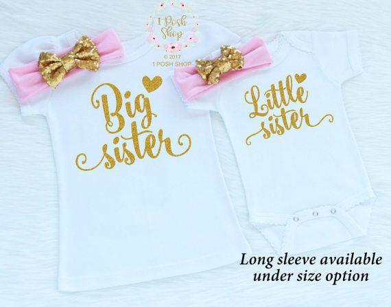 Traje de Big Sister hermana hermanita trajes coincidentes
