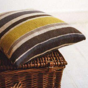 Knit an Erika Knight striped cushion: free pattern