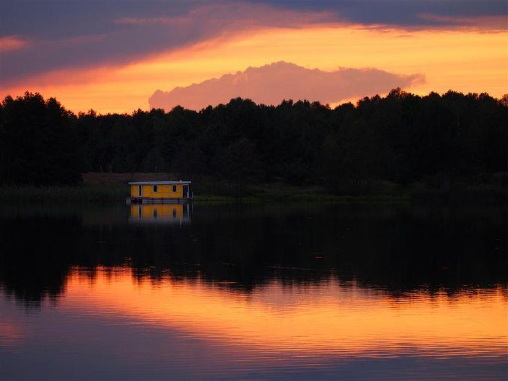 Ein gelbes Bunbo an der Havel im Sonnenuntergang. Foto: Wolfgang Roesel