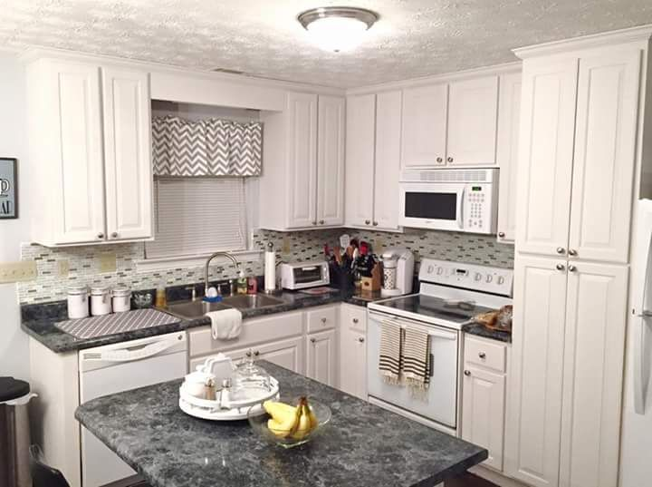 Awesome modern kitchen makeover done by southern charm a for Can you use kitchen cabinets in bathrooms