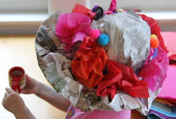 An easy, inexpensive tutorial for a DIY Newspaper Derby Hat for kids!