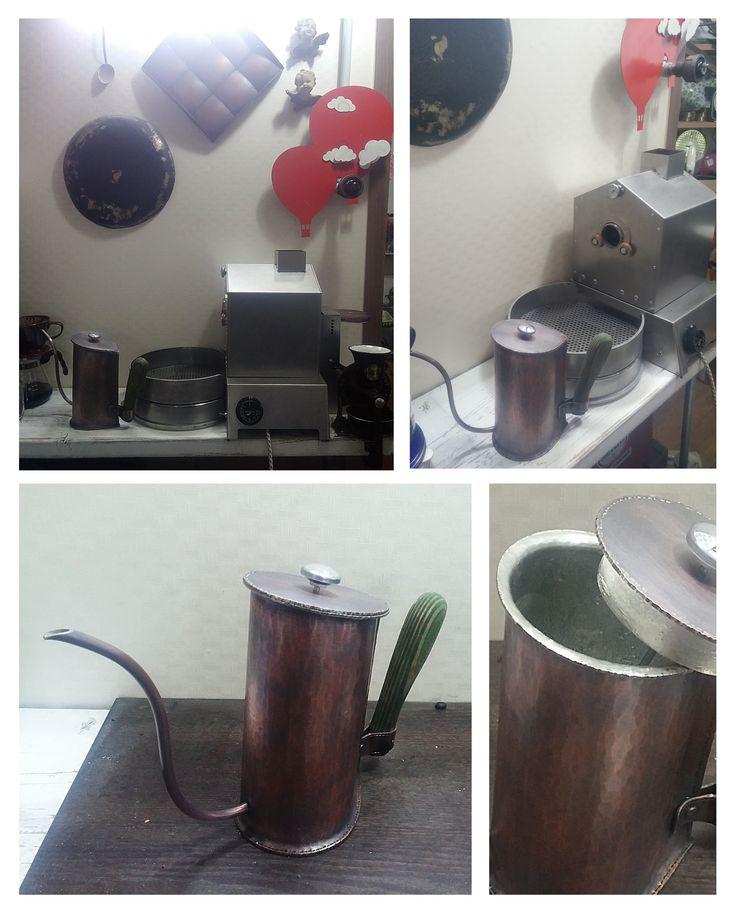 coffee drip pot  & coffee roaster