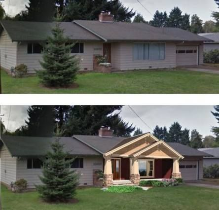 trendy house exterior makeover craftsman homes  ideas