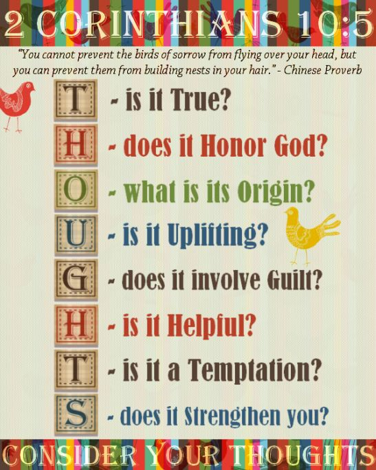 Consider your THOUGHTS - Amen