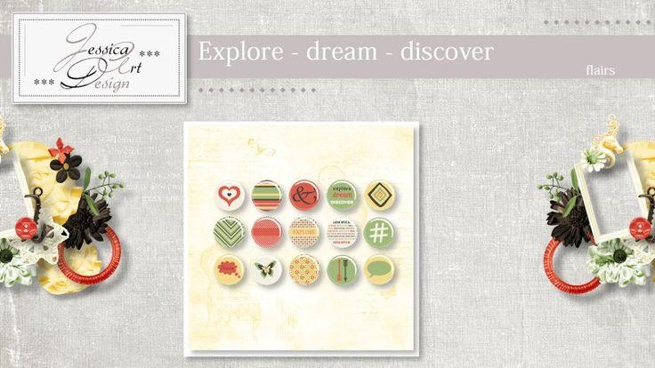 Explore - dream - discover flairs by Jessica art-design