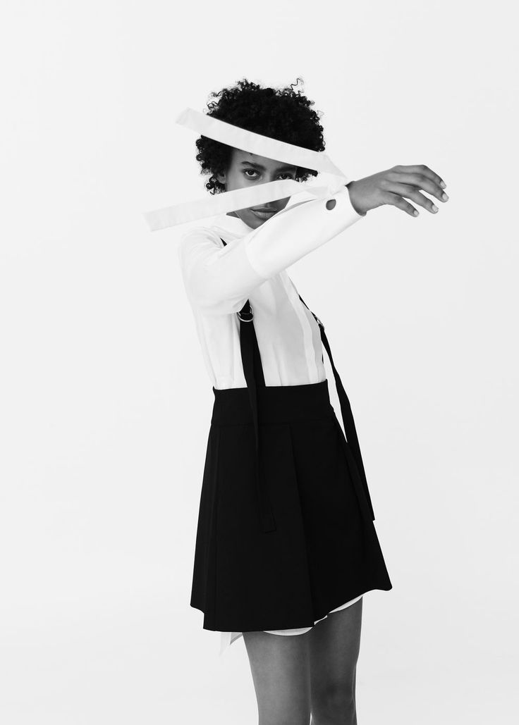 Flowy pinafore dress | MANGO