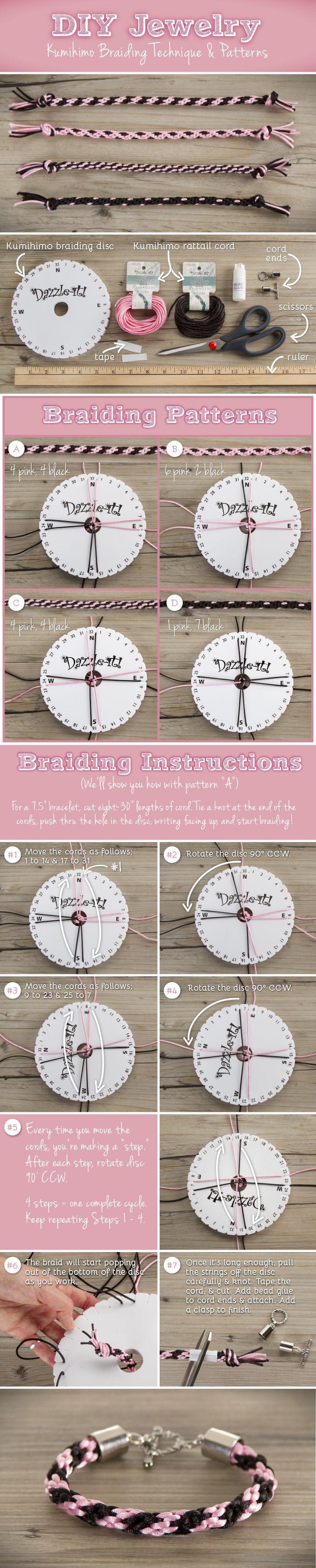 #DIY Kumihimo Braiding Techniques for Jewelry Bracelet #cbloggers #giftidea