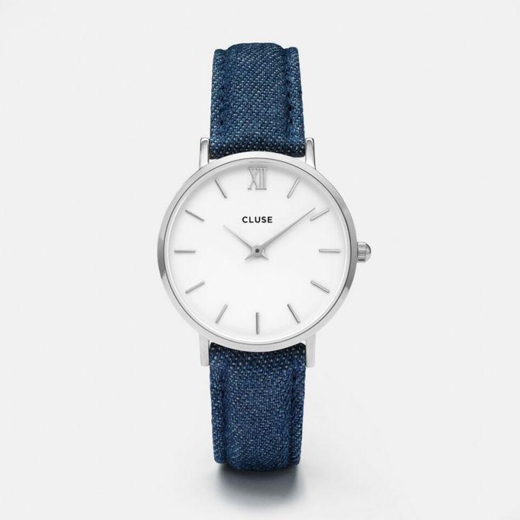 Minuit Silver White/Blue Denim CL30030
