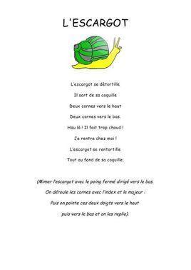 L'escargot - Comptine maternelle