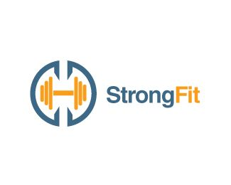 StrongFit Logo design - Great logo for bodybuilding club, fitness center, personal trainer, supplement store...