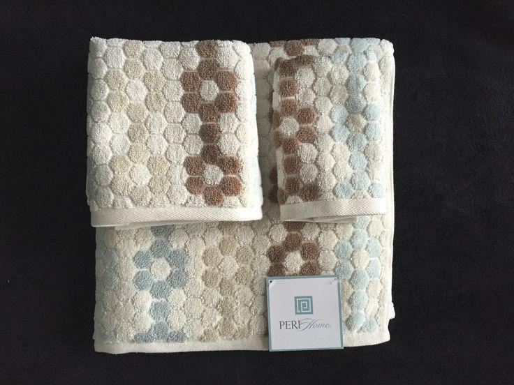 Blue Brown Bath Towels