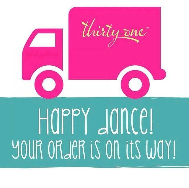 Thirty-One order has shipped to post on customers wall