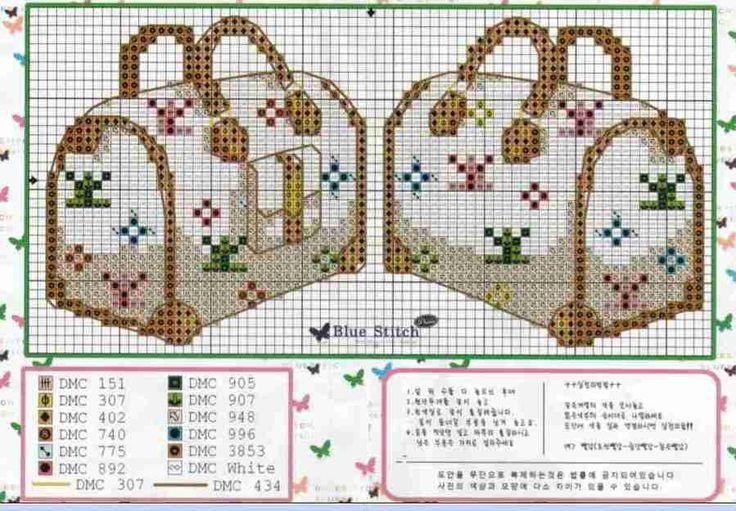 0 point de croix sac de voyage - cross stitch travel bag