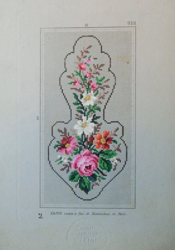 Sajou mini bell pull Cross stitch pattern . by rolanddesigns
