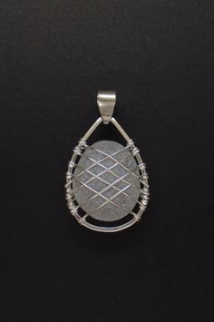 Sea Glass Jewelry  Sterling Caged Large White Sea by SignetureLine