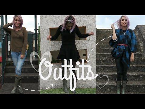 Outfits casuales con botas de lluvia. Los más cómodos de la vida...