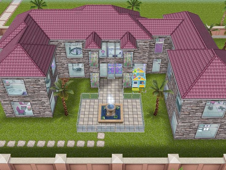 House 49 Barbies Dream House Re Design (full View) #sims #simsfreeplay