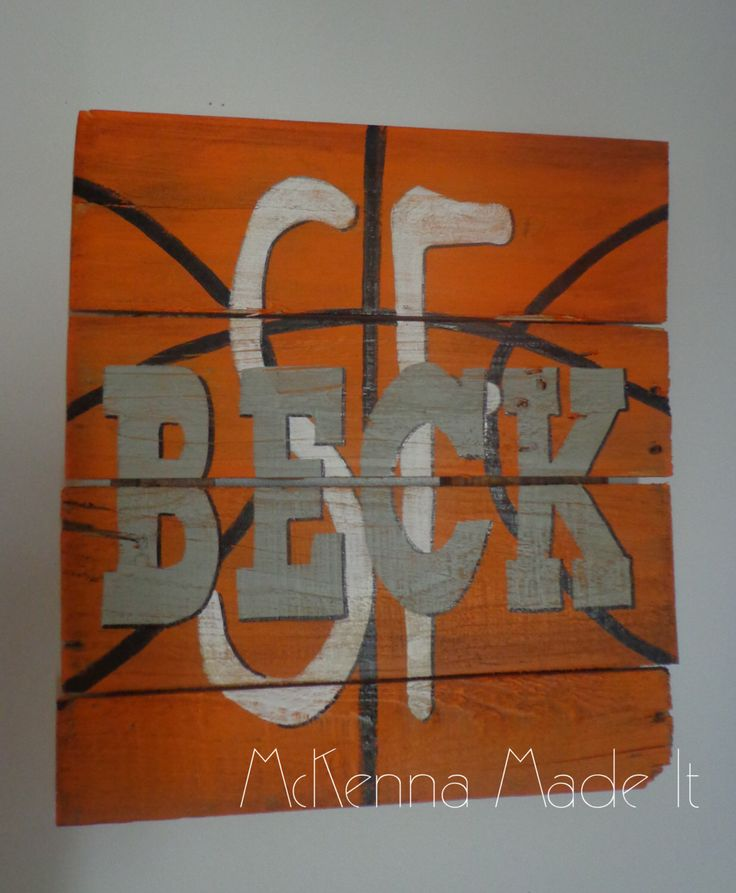 Personalized Basketball Pallet Wood Sign! Basketball Decor, Sports Decor, Boy Room Decor, Kids Decor, Coach Gift, Team, Basketball Sign by McKennaMadeIt2013 on Etsy https://www.etsy.com/listing/218558792/personalized-basketball-pallet-wood-sign
