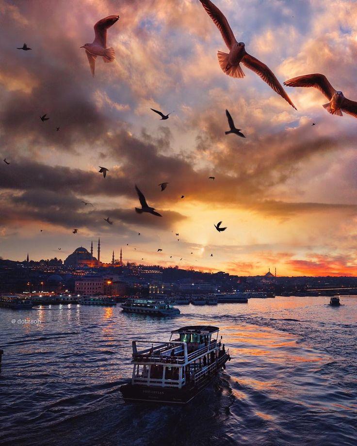 ✿ ❤ Galata Bridge Istanbul, we live to disco…