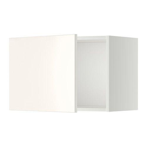IKEA - METOD, Väggskåp, Veddinge vit, vit, 60x40 cm, , Du kan välja att montera luckan högerhängd  eller vänsterhängd.Stommens konstruktion är rejäl; 18 mm tjocklek.Gångjärn med snäppfunktion monteras enkelt fast i luckan utan skruv och gör det lätt att ta av luckan och rengöra den.