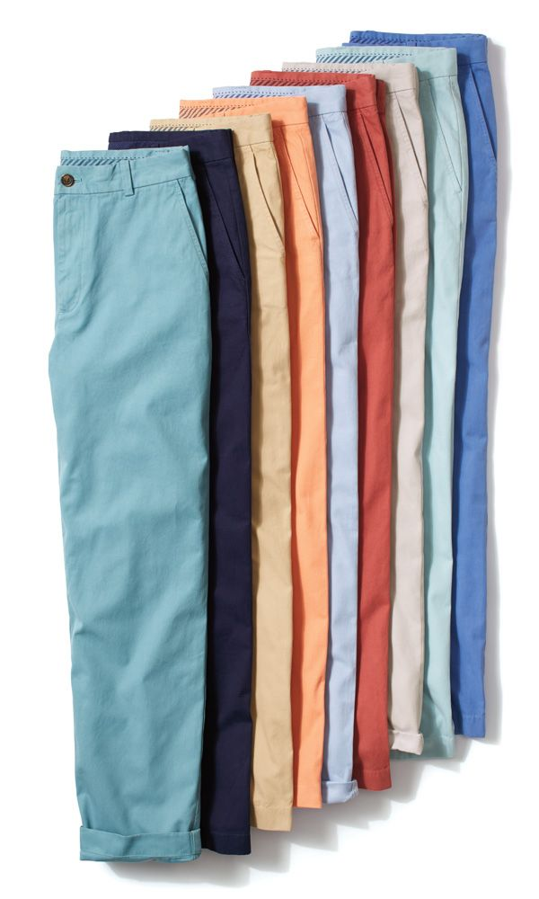 Brooks Brothers men's chinos have a soft wash and are garment-dyed to give them a vintage look and feel.