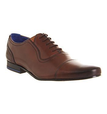 Ted Baker Rogrr Toe Cap Brown Leather - Smart