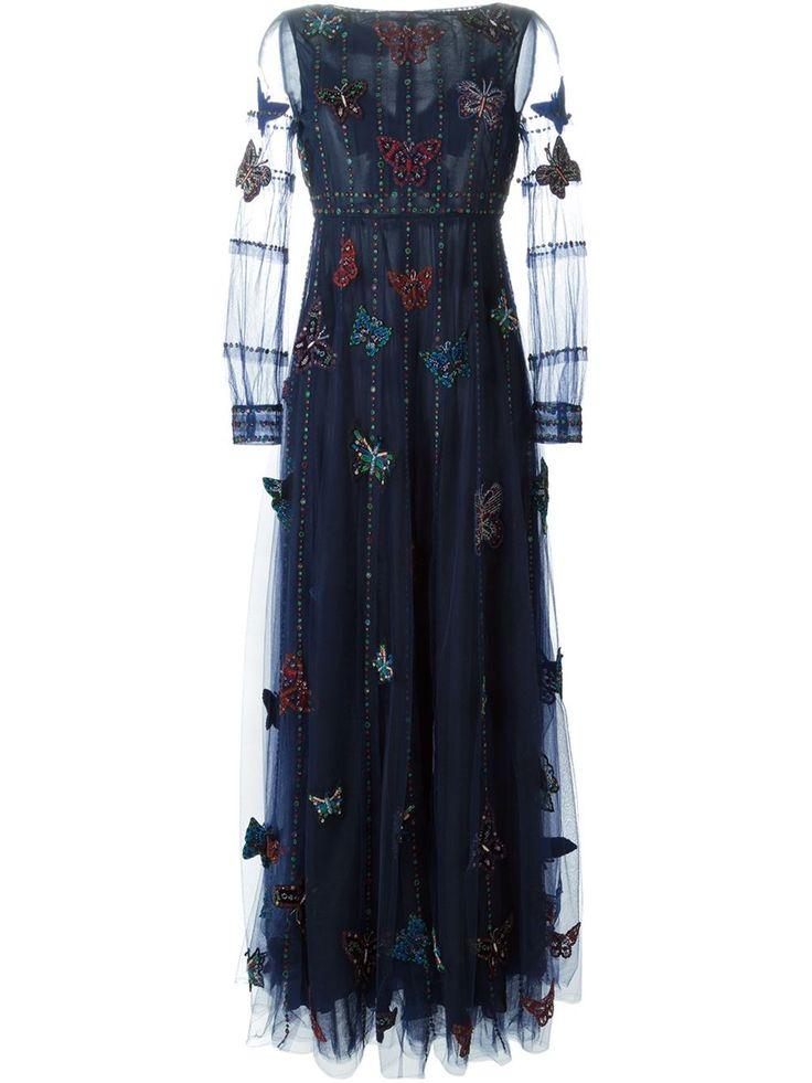 Valentino Butterfly Embellished Evening Dress - Stefania Mode - Farfetch.com