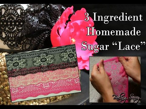 Homemade Edible Sugar Lace from Scratch - Easy, Eggless and Vegetarian - Recipe - YouTube