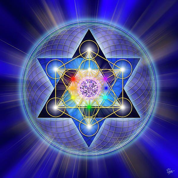Sacred Geometry 15 Digital Art  - Sacred Geometry 15 Fine Art Print