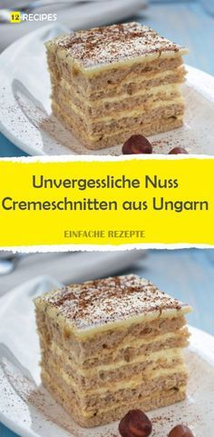 Unforgettable nut cream slices from Hungary 😍 😍 😍