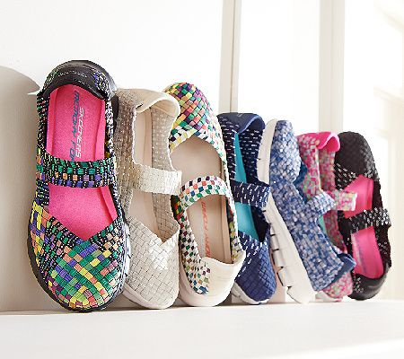 Give your tootsies something to celebrate in these breathable, cushioned Mary Janes from Skechers. Page 1 QVC.com