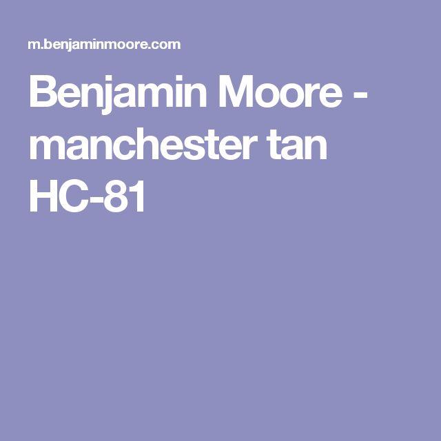 Benjamin Moore - manchester tan HC-81