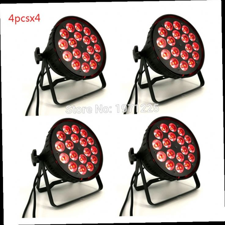 782.00$  Buy now - http://ali5ig.worldwells.pw/go.php?t=32751665744 - 16pcs DJ Disco Strobe 18x12W RGBW 4in1 Stage Light Led Par Can Light 8 DMX channels Home Party Entertainment 782.00$