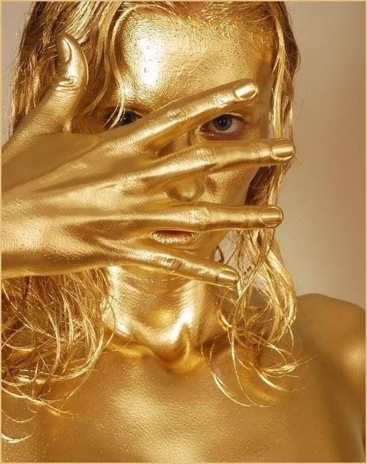 Gold Body Paint ☺. ☺ | Fashion Hair & Makeup | Fotoshoot ...