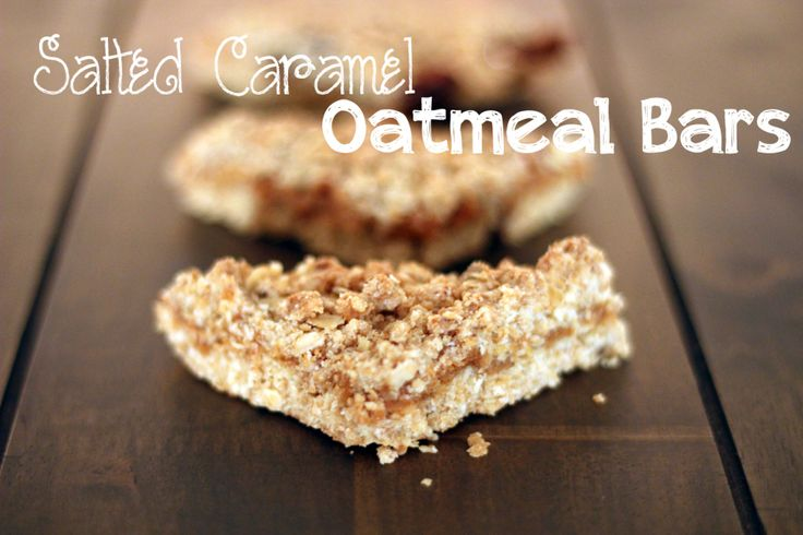 Havrekakor med salt karamell | Heavenly Cupcake Salted Caramel Oatmeal Bars