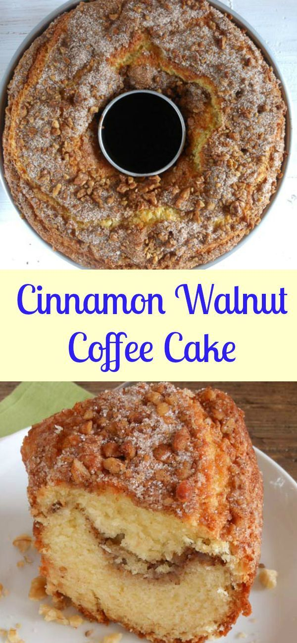 Cinnamon Walnut Coffee Cake one of the best and so easy homemeade cinnamon coffee cakes, the perfect made from scratch anytime desserts/anitalianinmykitchen.com