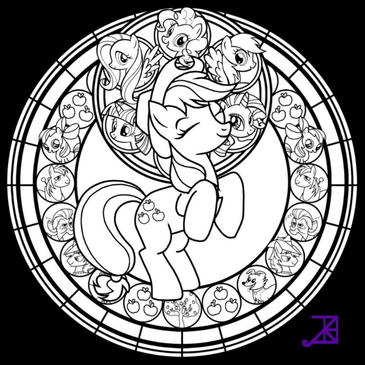 Feel Free To Color Just Leave I Stained Glass Applejack Line Art Find This Pin And More On Disney Other Favorite Characters Coloring Pages