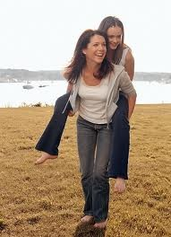 That's the way to carry your child, lol: Graham Alexis Bledel, Tv Movies, Favorite Actresses, Gilmore Girls, Beautiful Peoples, Favorite Movies Television, Stars Hollow, Lauren Graham Alexis