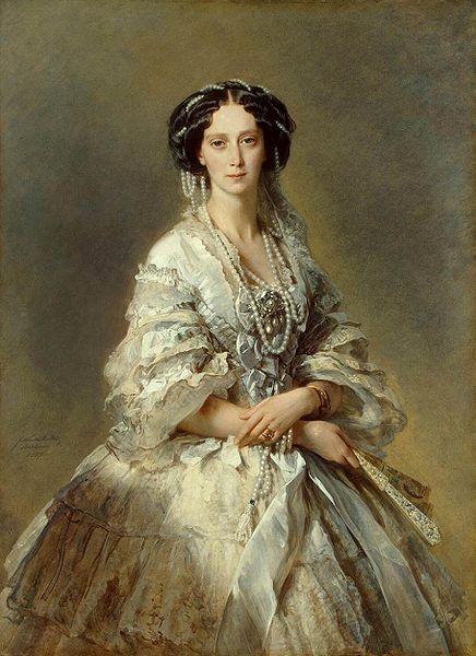 ROMANTISMO: Franz Xaver Winterhalter (1805–1873), Portrait of Empress Maria Alexandrovna, 1857