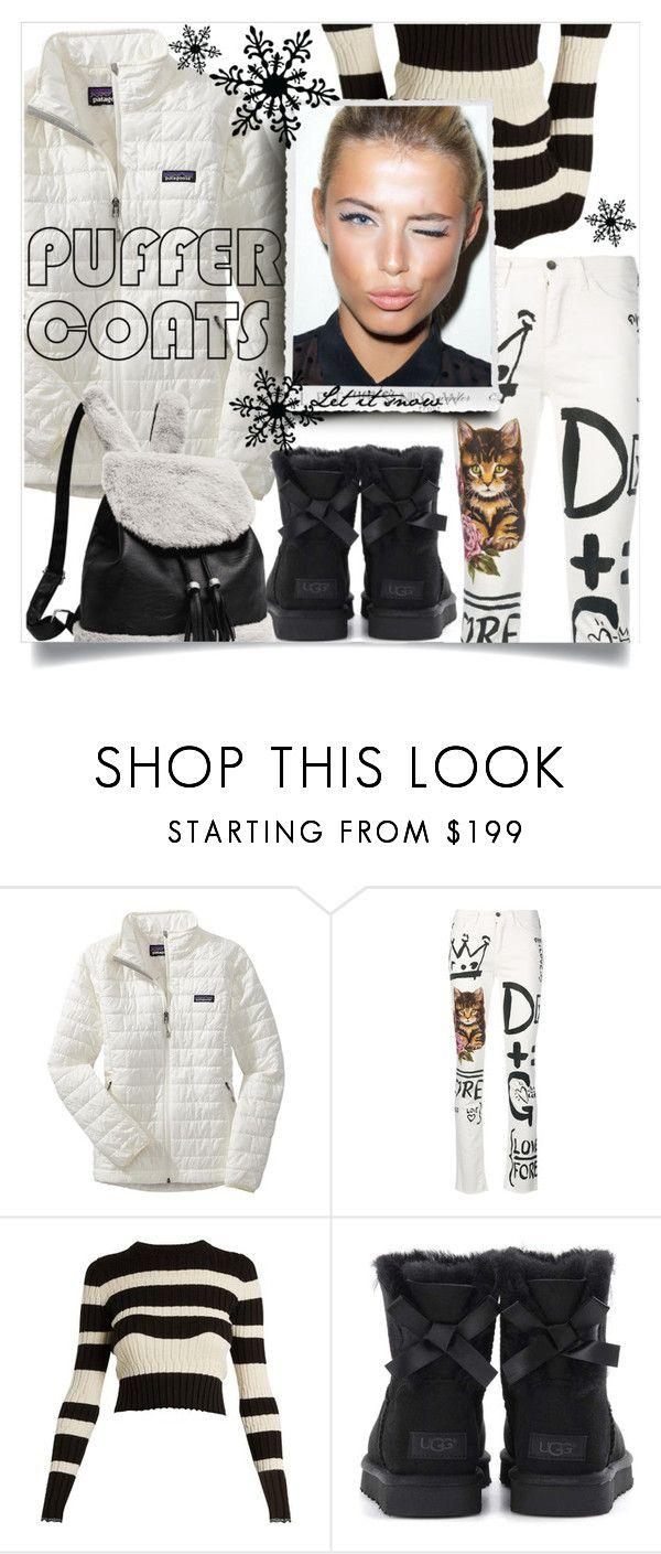 """""""Stay Warm: Puffer Coats"""" by stylematters61 ❤ liked on Polyvore featuring Patagonia, Dolce&Gabbana, Proenza Schouler, UGG and La Femme"""