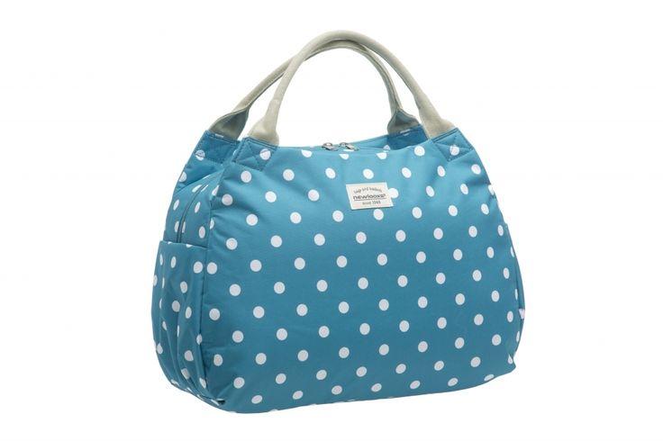 New Looxs Håndtaske - Polka Tosca 16 liter - Blå med hvide prikker