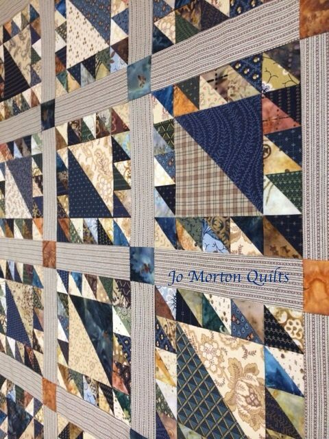 Made by Jo Morton GReat colors and quilt for a man.For my CW fabrics.