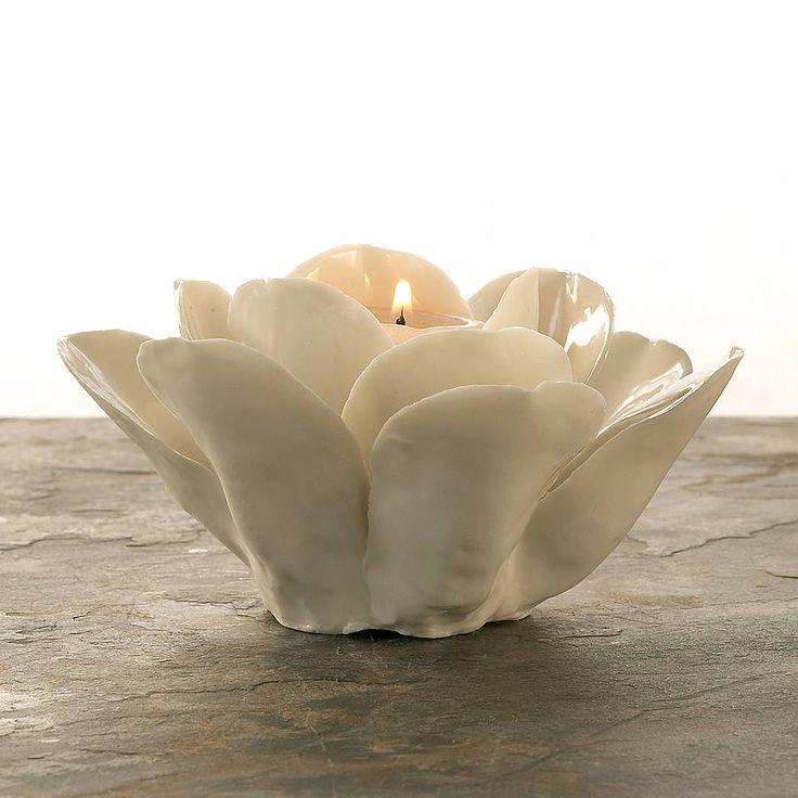 porcelain rose tealight holder by ella james | notonthehighstreet.com