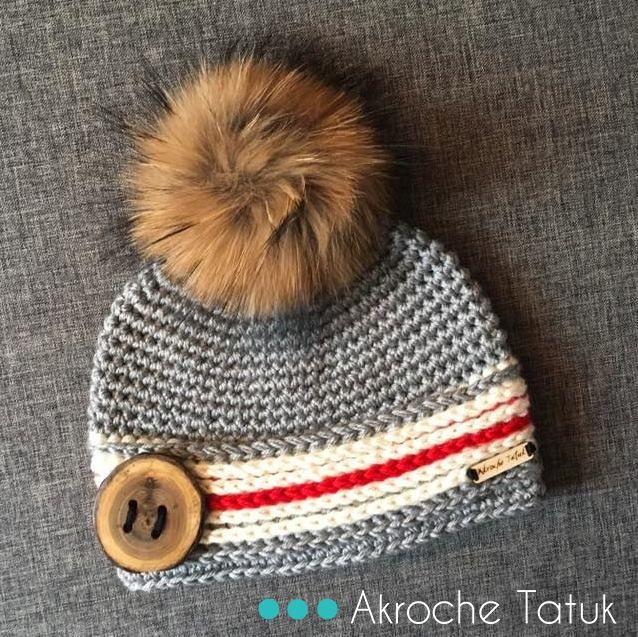 Kit do Alasca. Crochê trabalho meia chapéu e capuz padrão por Akroche tatuk. (inglês e francês)